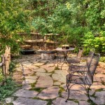 garden with outdoor seating