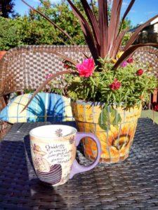 morning in the garden by liz morrow