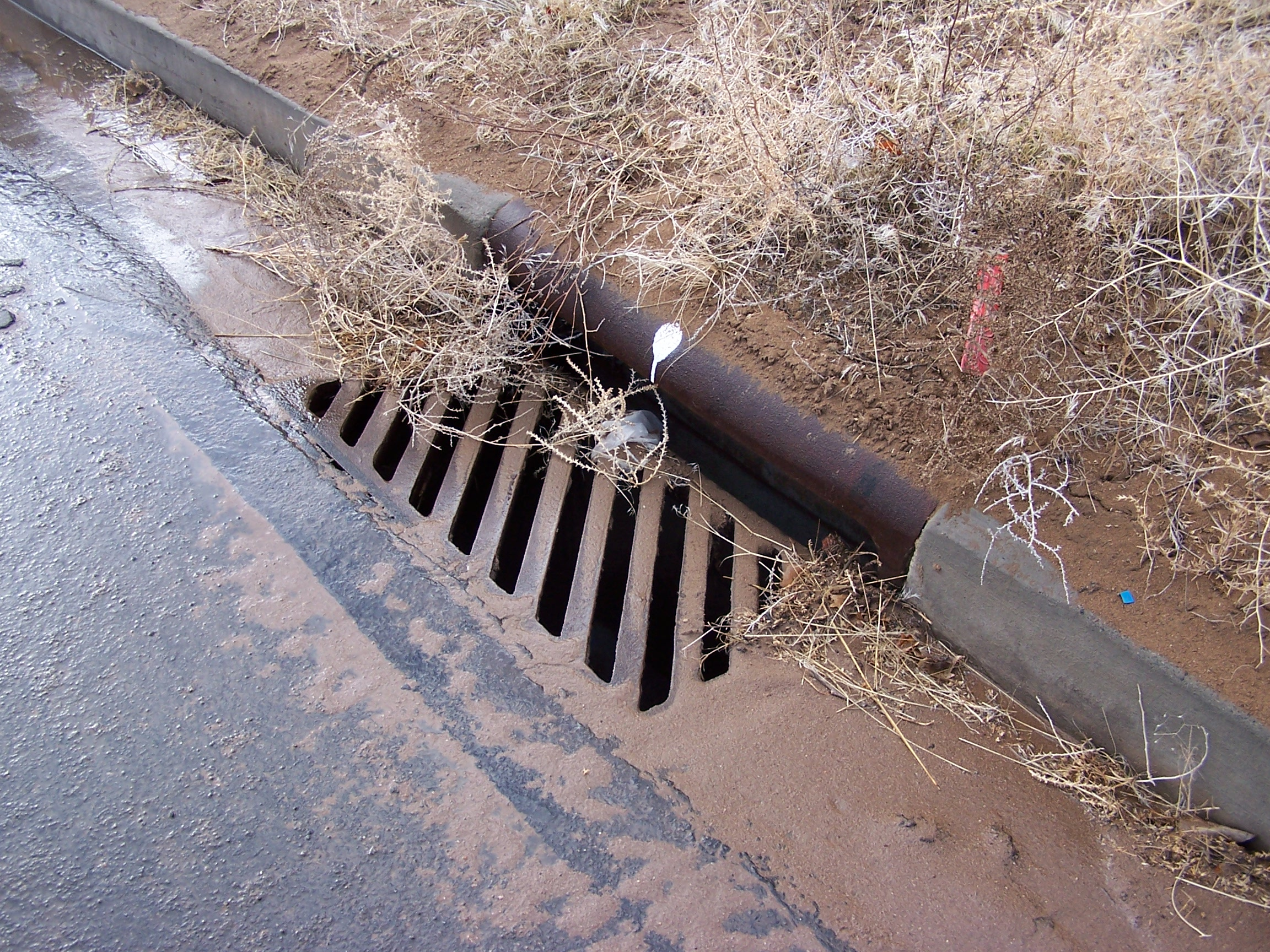sediment and debris in storm drain