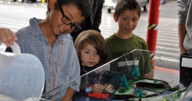 Flood models at community events highlight the dangers of flooding and importance of floodplain management. Photo by the Nevada Flood Awareness Committee
