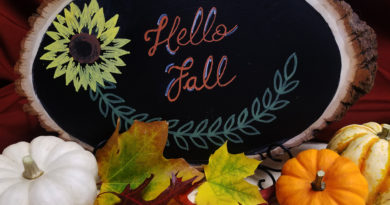 You can use leaves for a variety of fall crafts that will brighten your home and provide creative centerpieces for your fall parties. Photo by Jenn Fisher.