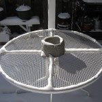 outdoor table with snow